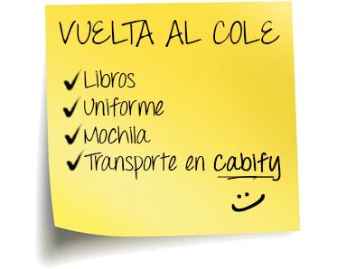 (Español) Vuelta al cole con Cabify