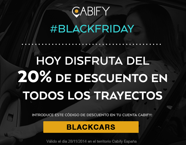 #BlackFriday en Cabify!